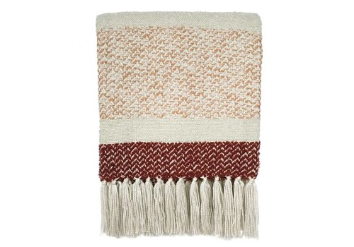 Berber grainy red throw