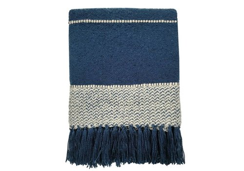 Berber dark blue throw (March 30)