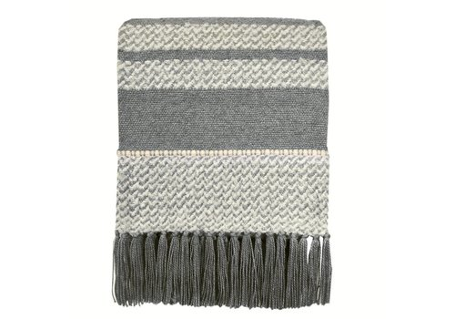 Berber grey throw