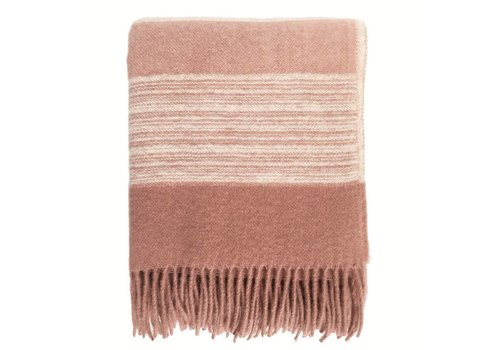 Sunrise pink wool throw