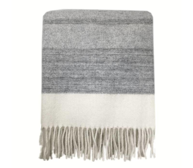 Cream white wool throw
