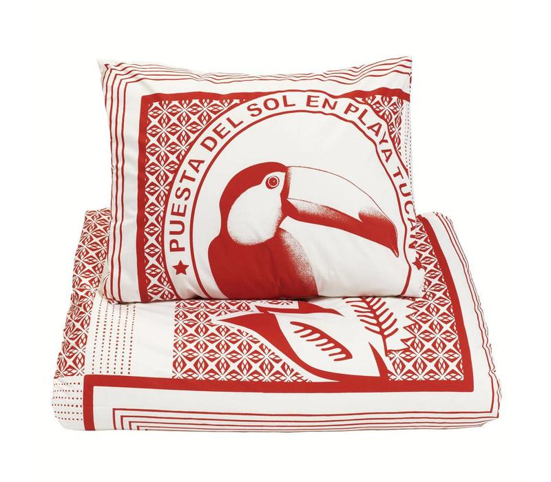 Tucan red duvet cover
