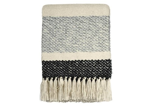 Berber grainy black throw