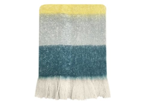 Dark lead blue mohair throw