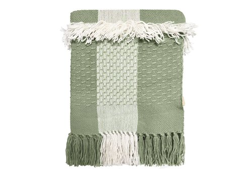 Peagreen fringe throw