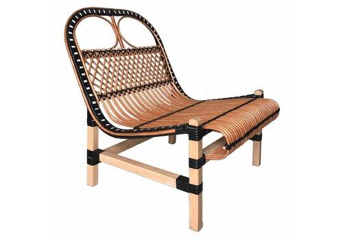 Rattan lounge chair black (NEW)