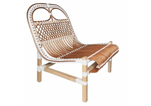Rattan lounge chair white (NEW)