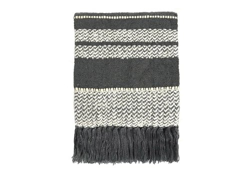 Berber stone grey throw