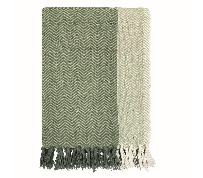 Teepee faded green throw