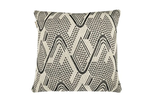 Raffia cotton offwhite cushion