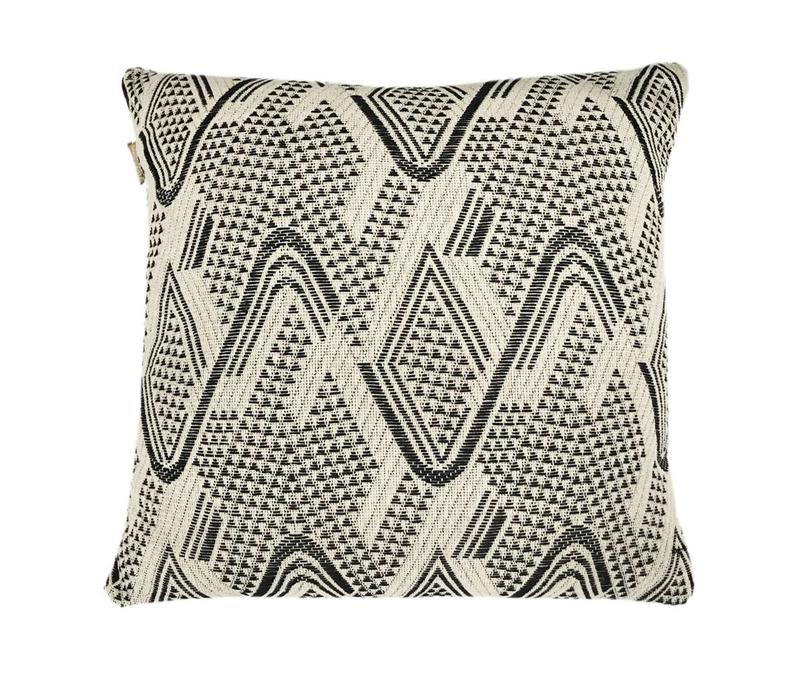 Raffia cotton offwhite cushion