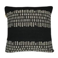 Bark stripe cotton black cushion (NEW)