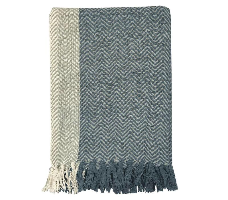 Teepee dark blue throw (NEW)