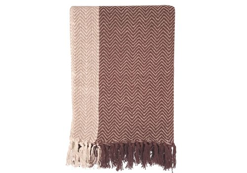 Teepee stone pink throw (March 15)
