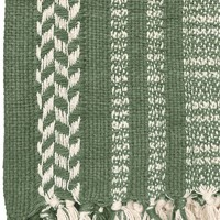 Cheyenne stripe faded green throw (NEW)