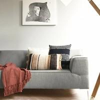 Navajo beige cushion