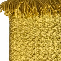Mustard fringe throw