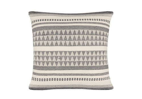Native stripe cotton offwhite cushion 60x60cm