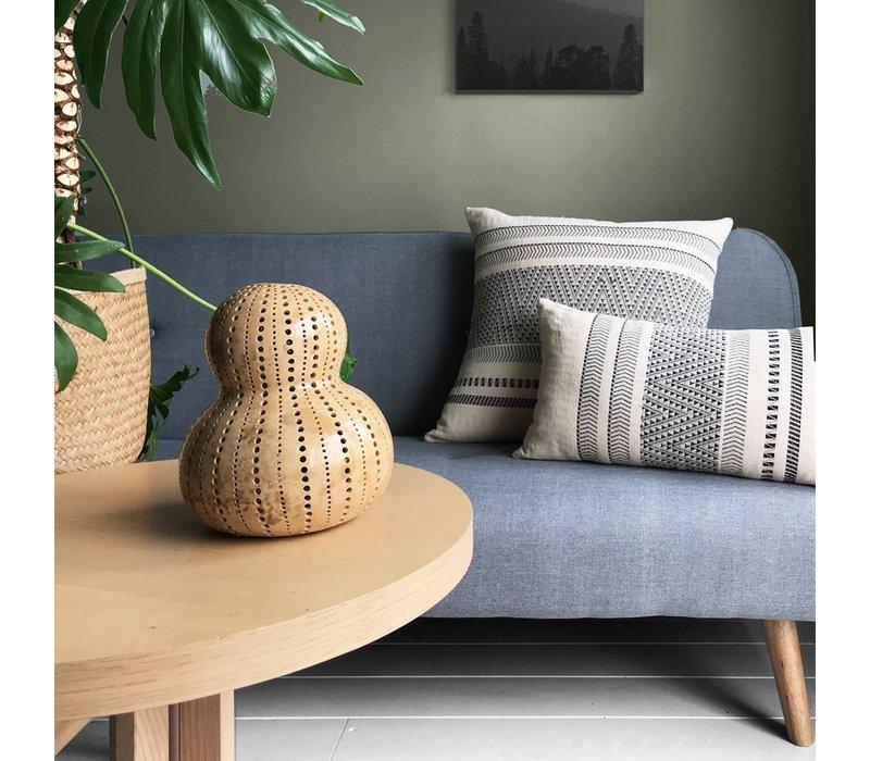 Native stripe cotton offwhite cushion 35x65cm (NEW)