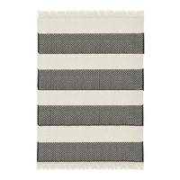 Rustic basket stripe throw offwhite (NEW)