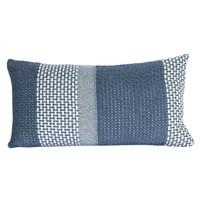 Rustic basket stripe cushion blue (NEW)