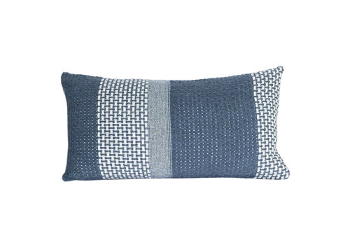 Rustic basket stripe cushion blue (NEW)