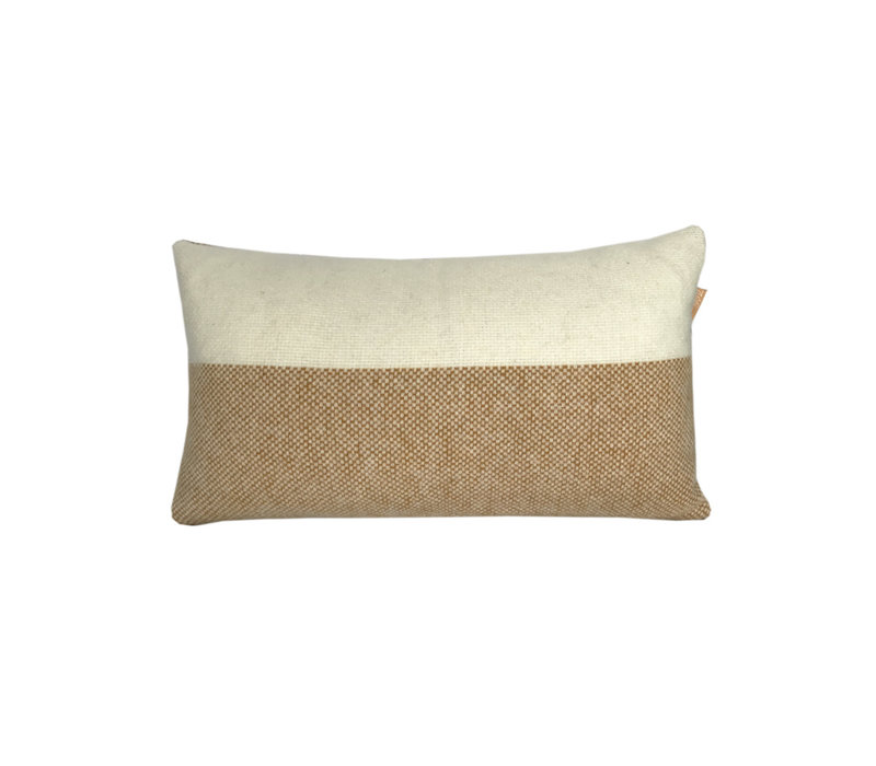 Easy nature wool cushion mustard rectangle (NEW)
