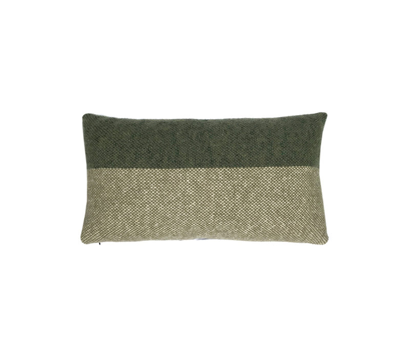 Easy nature wool cushion green rectangle (NEW)