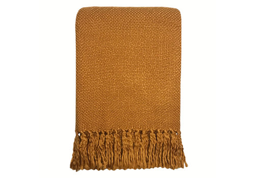 Inca yellow solid throw (NEW) (25 Sep)