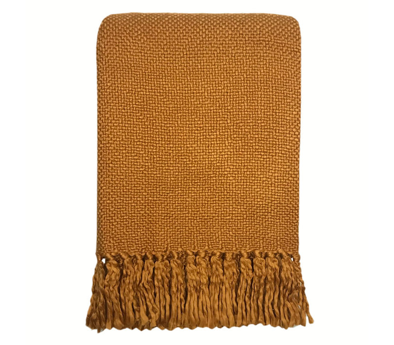 Inca yellow solid throw (NEW)