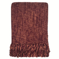 Marble burgundy red throw (NEW)