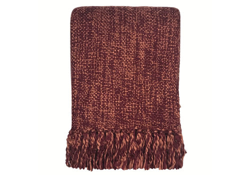 Marble burgundy red throw (NEW) (25 Sep)