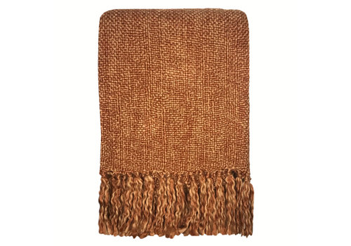 Marble terracotta red throw (NEW) (25 Sep)