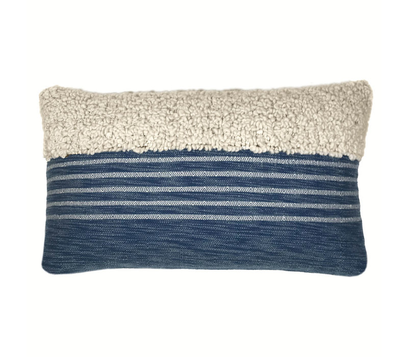 Tribal indigo blue cushion (NEW) (15 Oct)