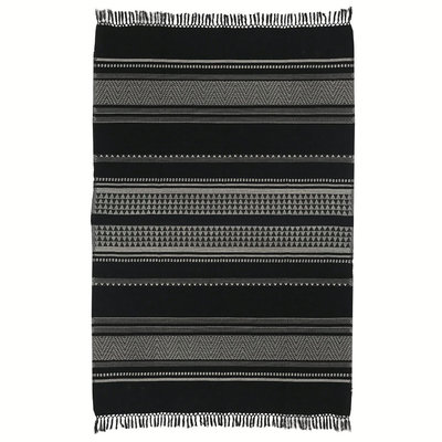 Prime Native Stripe Cotton Black Throw 220X270Cm New 15 Oct Bralicious Painted Fabric Chair Ideas Braliciousco