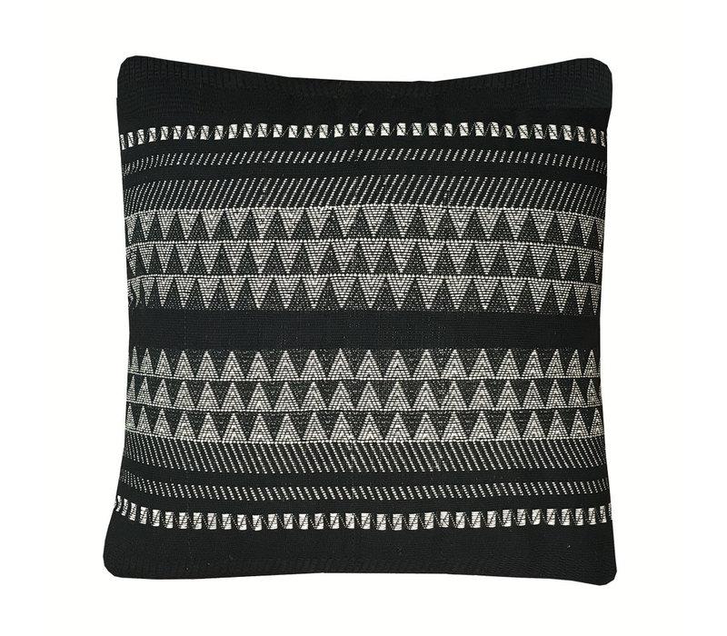 Native stripe cotton black cushion 60x60cm (NEW) (15 Oct)