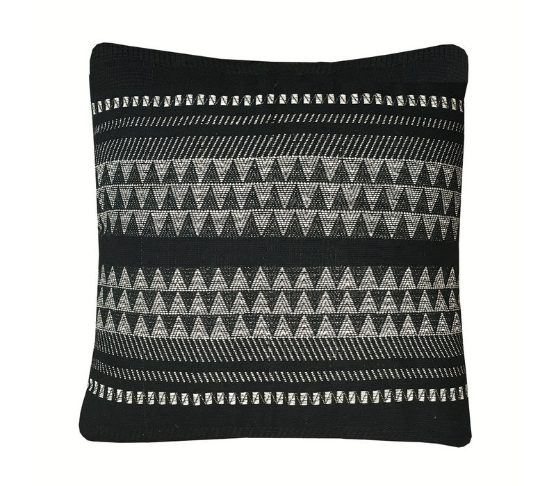 Native stripe cotton black cushion 60x60cm (NEW)