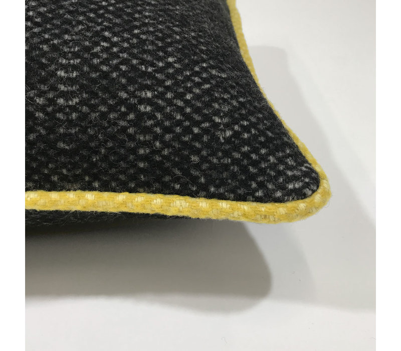 Crow black structure recycled wool rectangle cushion (NEW)