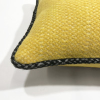 Birdy yellow structure recycled wool square cushion (NEW)
