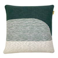 Sunset knitted cushion green (NEW)