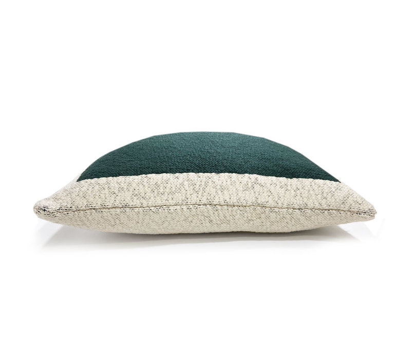 Solid knitted poster cushion green (NEW)