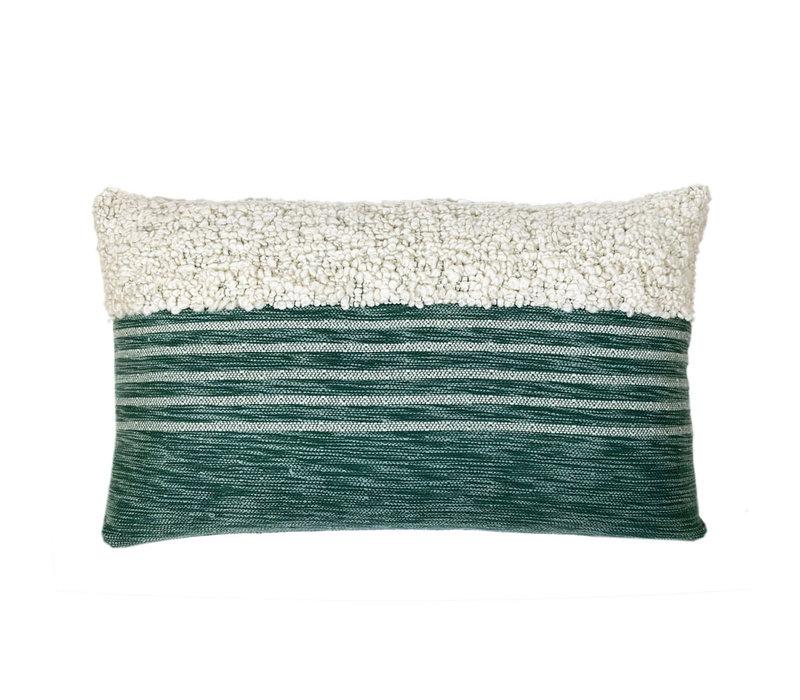 Tribal green cushion (NEW)