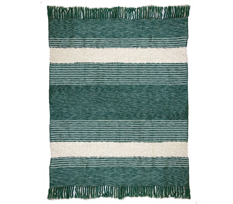 Tribal green throw (NEW)