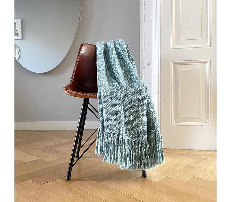 Marble lead blue throw