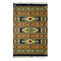 Unique carpet turmeric 100% wool 196x294cm XL (NEW)