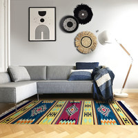 Unique carpet lead blue 100% wool 152x198cm (NEW)