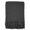 Anthracite grey solid throw (NEW)