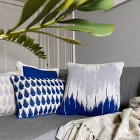 Wave knitted cushion blue (NEW)