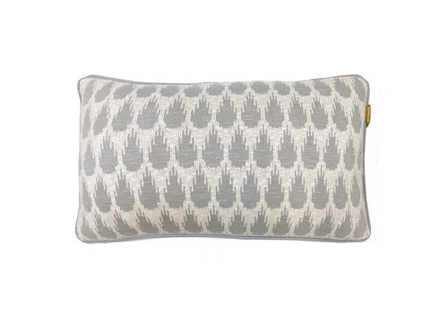 Botanic mini knitted cushion light grey (NEW)