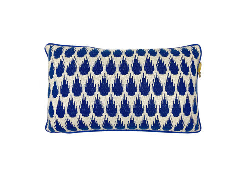 Botanic mini knitted cushion blue (NEW)
